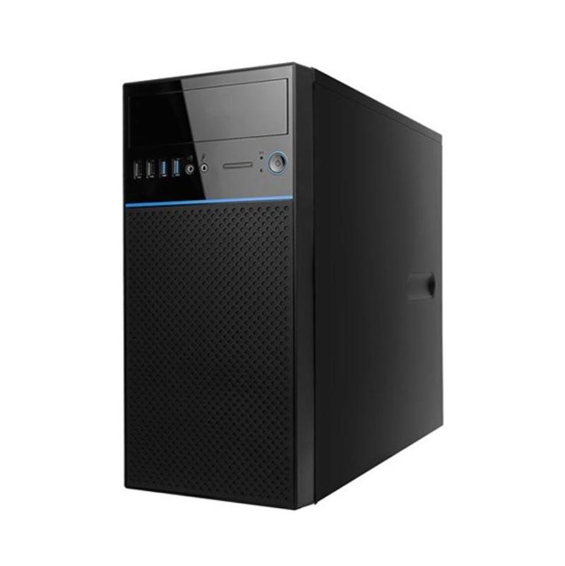 Inwin EN708 Mini Tower mATX Case - Black/Blue with 450w PSU