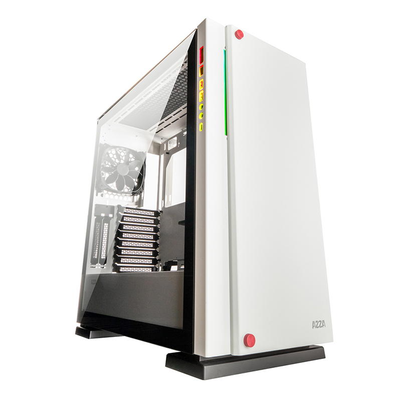 AZZA Zircon 7000 TG Full Tower E-ATX Case - White (No Fans)