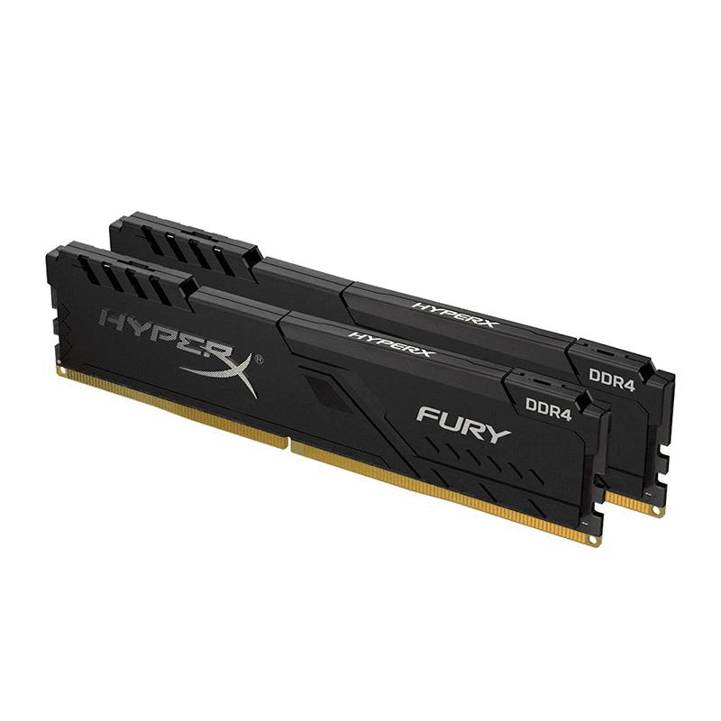 Kingston 16GB (2x8GB) HX432C16FB3K2/16 HyperX Fury 3200MHz DDR4 RAM - Black
