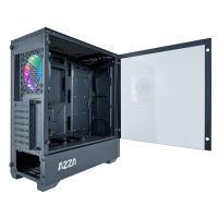 AZZA Apollo 430 RGB TG Mid Tower ATX Case - Black (No Fans)