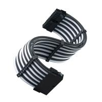 SilverStone PP07E-MBBW 24 Pin ATX Sleeved Power Extension Cable - Black/White