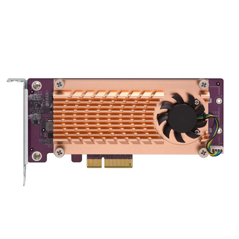 QNAP Dual M.2 22110/2280 PCIe NVMe SSD Expansion Card (QM2-2P-244A)