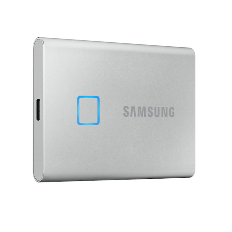 Samsung T7 500GB Touch USB Type C Portable SSD - Silver