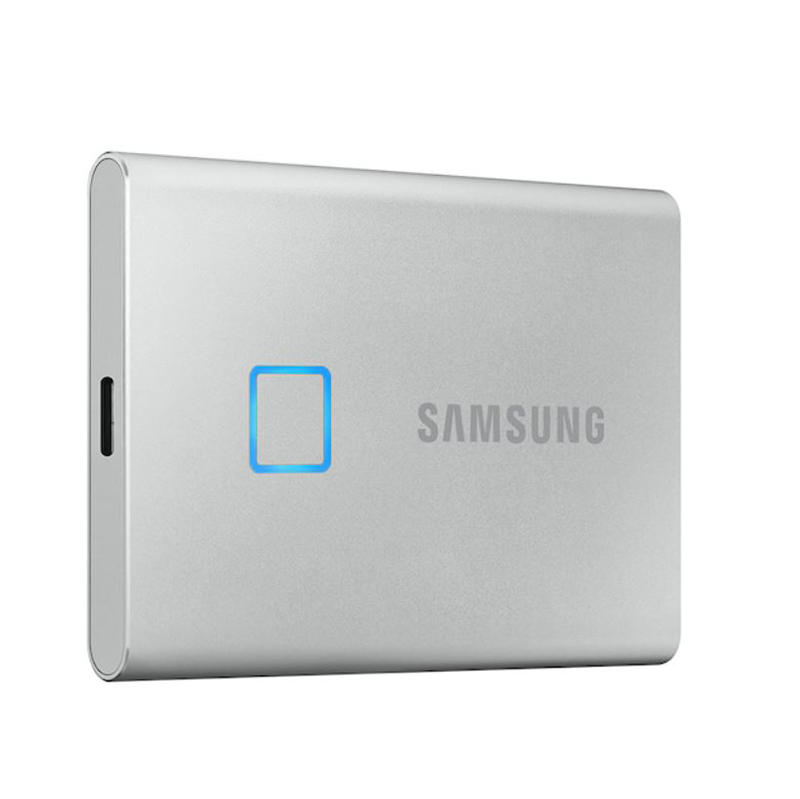 Samsung 1TB T7 Touch USB Type C Portable SSD - Silver