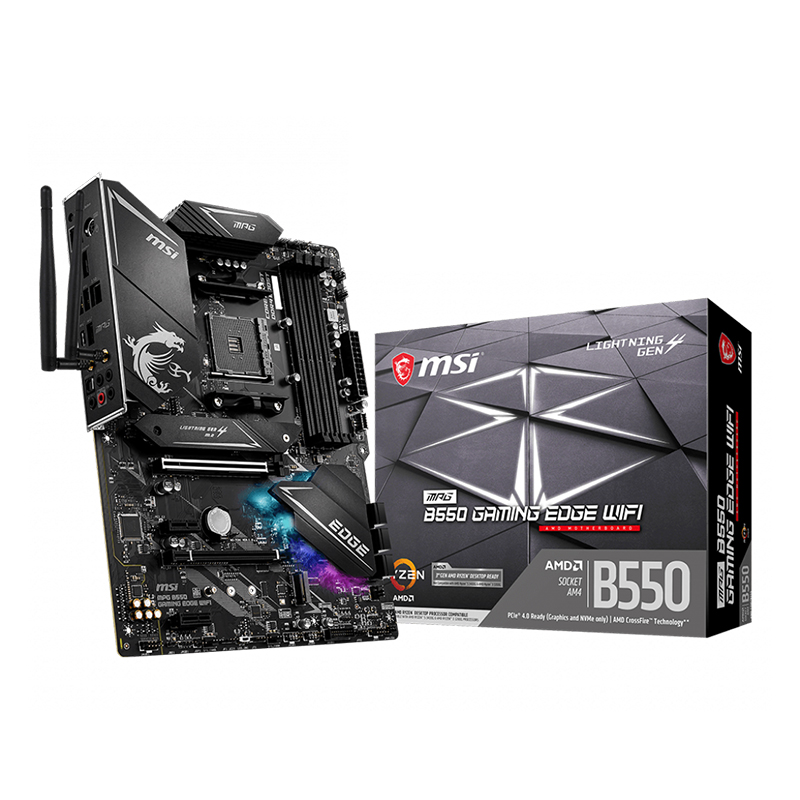 MSI MPG B550 Gaming Edge WiFi AM4 ATX Motherboard
