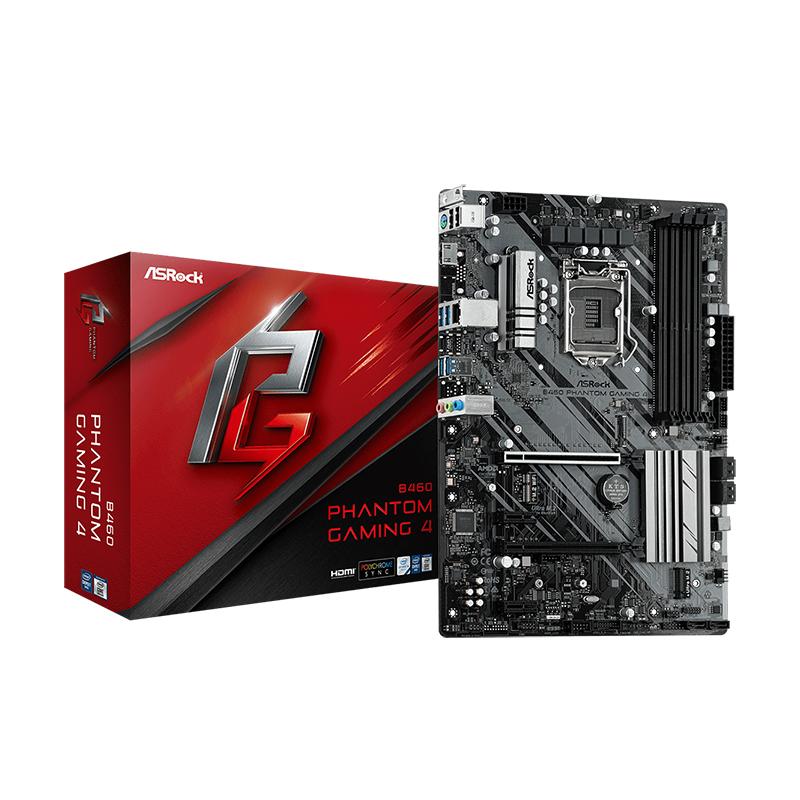 Asrock B460 Phantom Gaming LGA 1200 ATX Motherboard