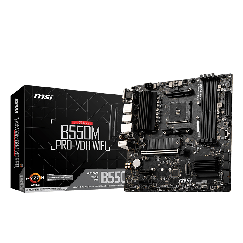 MSI B550M PRO-VDH WiFi AM4 mATX Motherboard