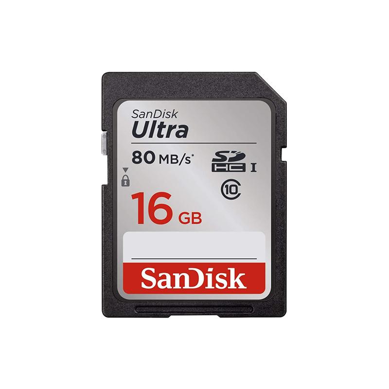 Sandisk Ultra 16GB SDHC C10 80MB/s SD Card