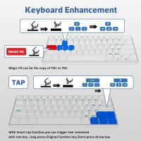 ANNE PRO 2 60% Bluetooth Mechanical Keyboard, Gateron Blue Switch, Black Case