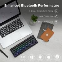 ANNE PRO 2 60% Bluetooth Mechanical Keyboard, Gateron Red Switch, Black Case