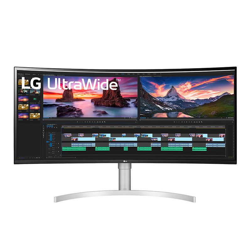 "LG 38"" QHD Ultrawide 144Hz IPS G-Sync Compatible Curved Monitor (38WN95C-W)"