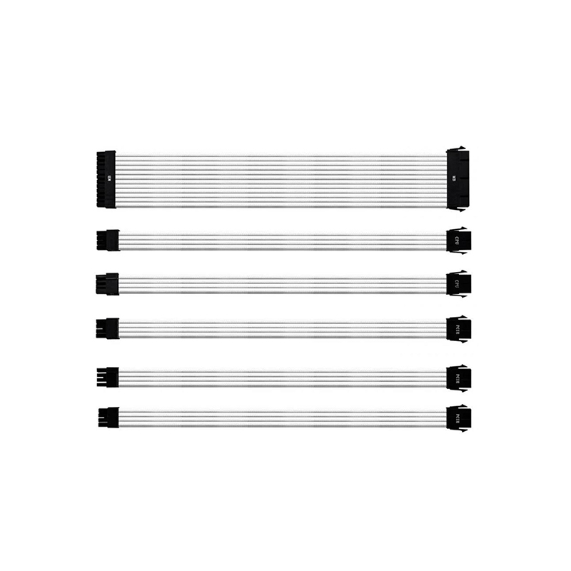 Cooler Master Universal PSU Sleeved Extension Cable Kit V2 - White