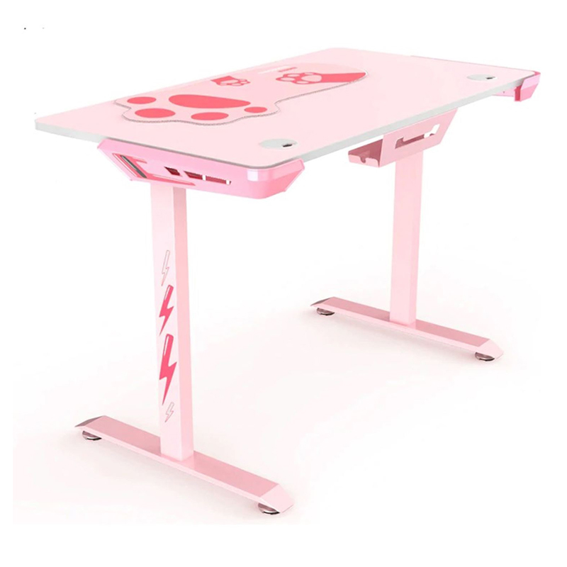 Eureka I44 Ergonomic Gaming Desk - Pink