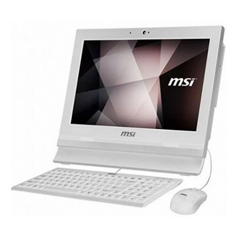 MSI Pro 16T 15.6in HD Touch Screen Celeron 5205U 256GB SSD All in One PC White (No OS) (10M-010XAU)