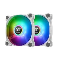 Thermaltake Pure Duo 14 140mm ARGB Sync Radiator Fan White - 2 Pack
