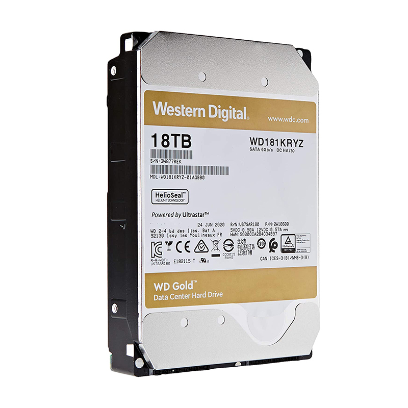 Western Digital 18TB Gold 3.5in SATA 512e Enterprise Hard Drive (WD181KRYZ)