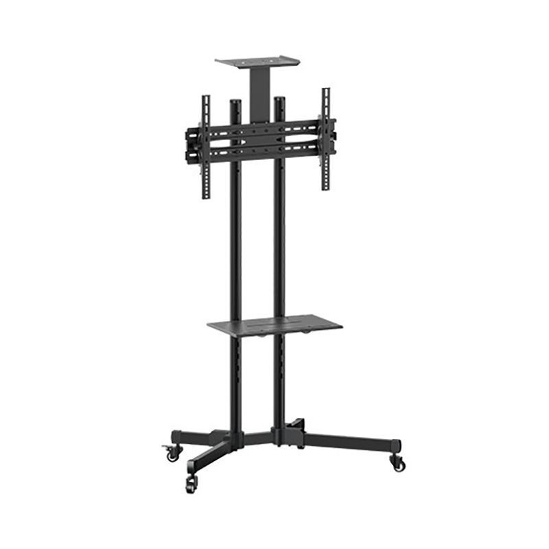 Brateck 37-70in Portable TV Cart with Top and Centre Shelf