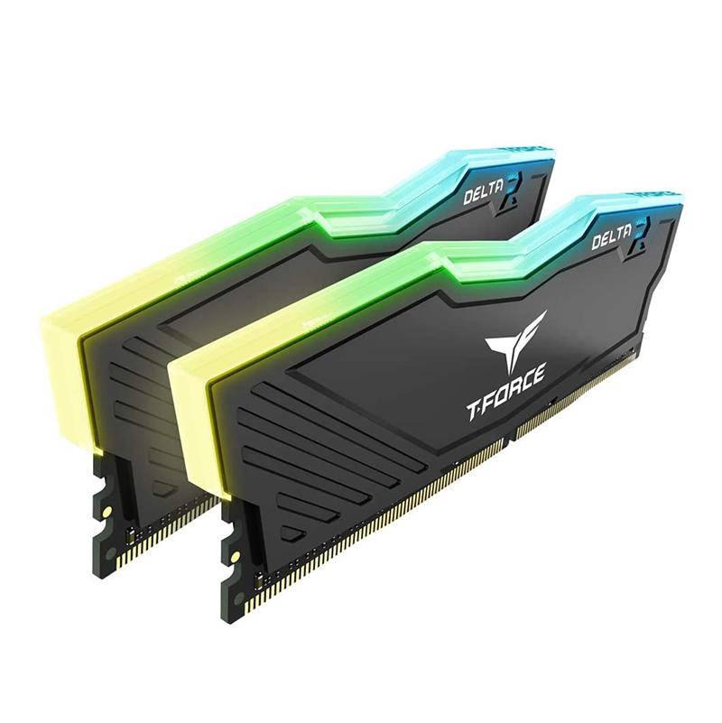 Team 32GB (2x16GB) TF3D432G3000HC16CDC01 Delta RGB 3000MHz DDR4 RAM - Black