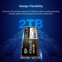 Silicon Power 2TB US70 M.2 NVMe SSD 4.0 Gen4 PCIe R/W up to 5,000/4,400 MB/s