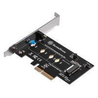 SilverStone M.2 PCIe/NVMe to PCIe x4 Screwless Design Adapter Card