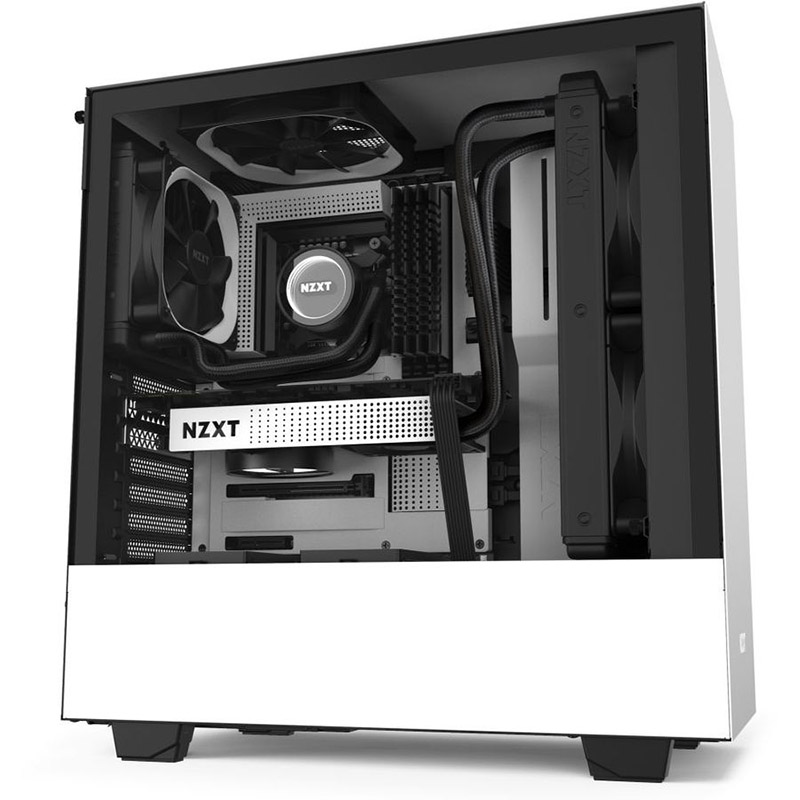 NZXT H511 Compact Mid Tower ATX Case - White (System Build Only)