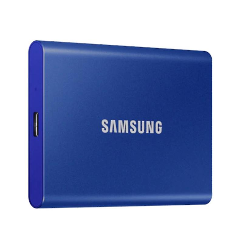 Samsung T7 500GB USB Type C Portable SSD - Indigo Blue