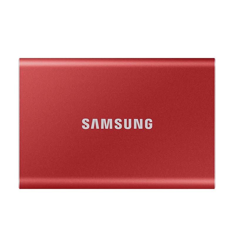 Samsung T7 2TB USB Type C Portable SSD - Metallic Red