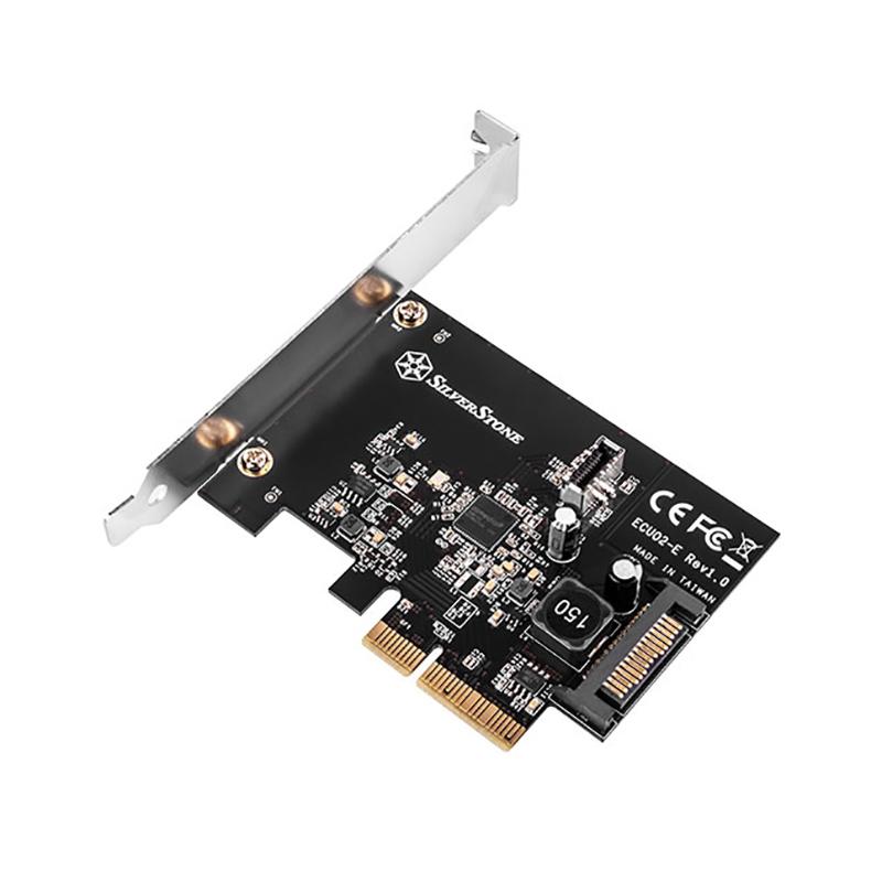 SilverStone USB 3.2 Internal 20 Pin PCIe Expansion Card