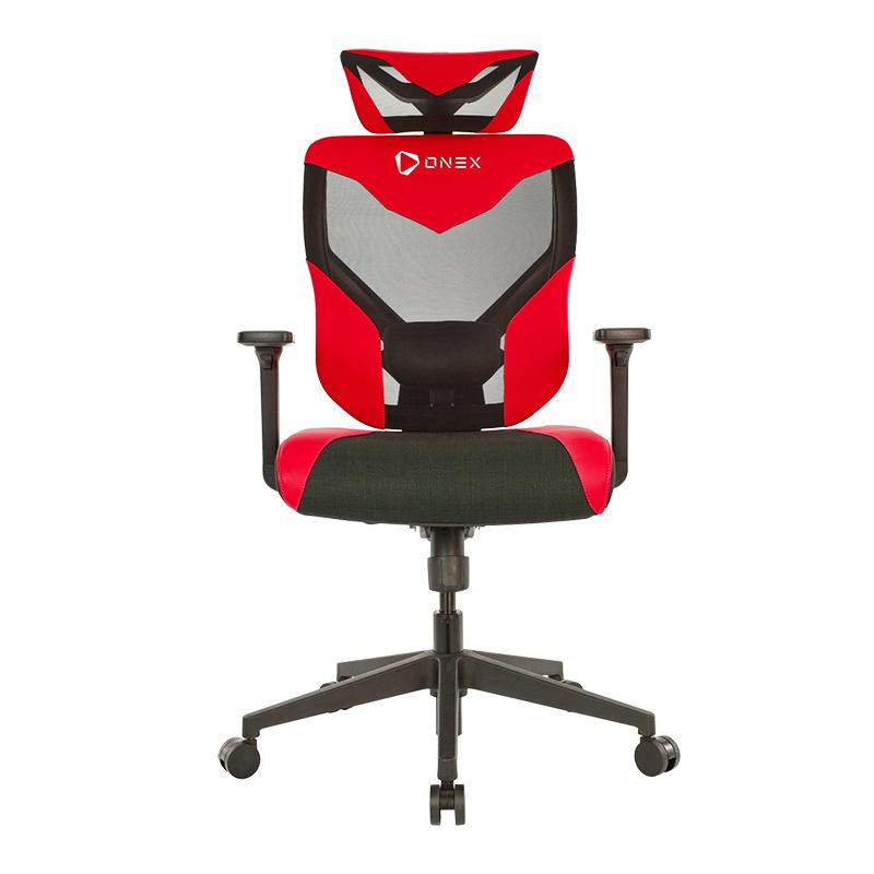 ONEX Black Vida Ergonomic Gaming Chair - Black/Red