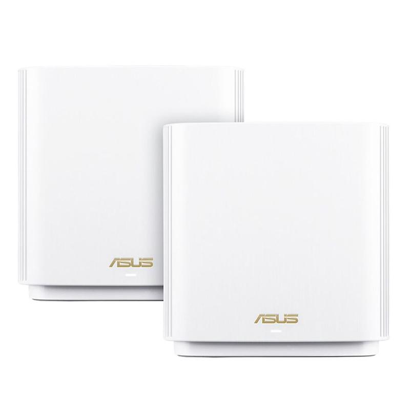 Asus ZenWiFi XT8 AX6600 WiFi 6 Tri Band Mesh WiFi System White - 2 Pack