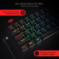 Redragon K530 Draconic 60% Compact RGB Wireless Mechanical Keyboard,Black