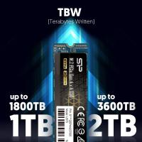 Silicon Power 1TB US70 PCIe Gen 4 R/W up to 5,000/4,400 MB/s M.2 NVMe SSD