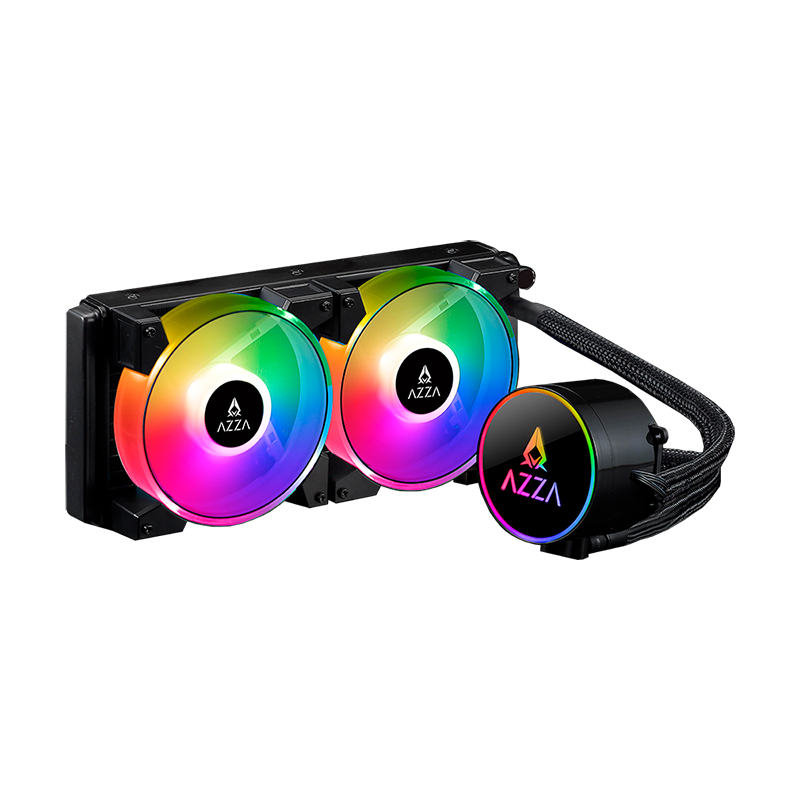 AZZA Blizzard 240mm RGB AIO Liquid CPU Cooler