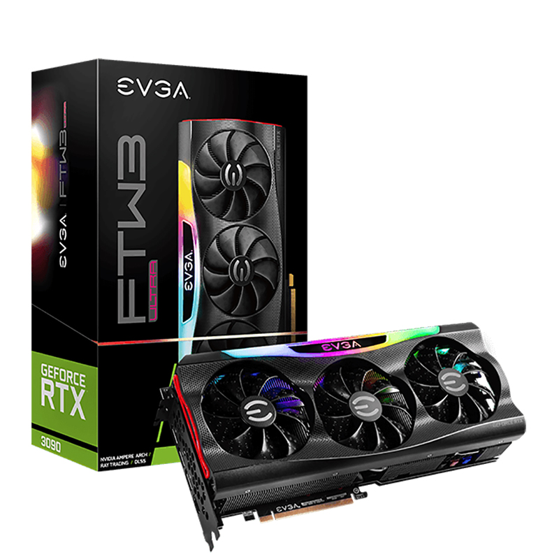 EVGA GeForce RTX 3090 FTW3 Ultra 24G Graphics Card