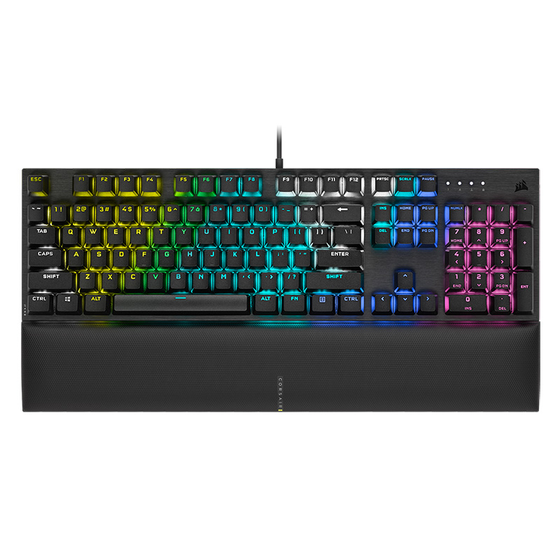 Corsair K60 RGB Pro SE Mechanical Gaming Keyboard - Cherry Viola - Black