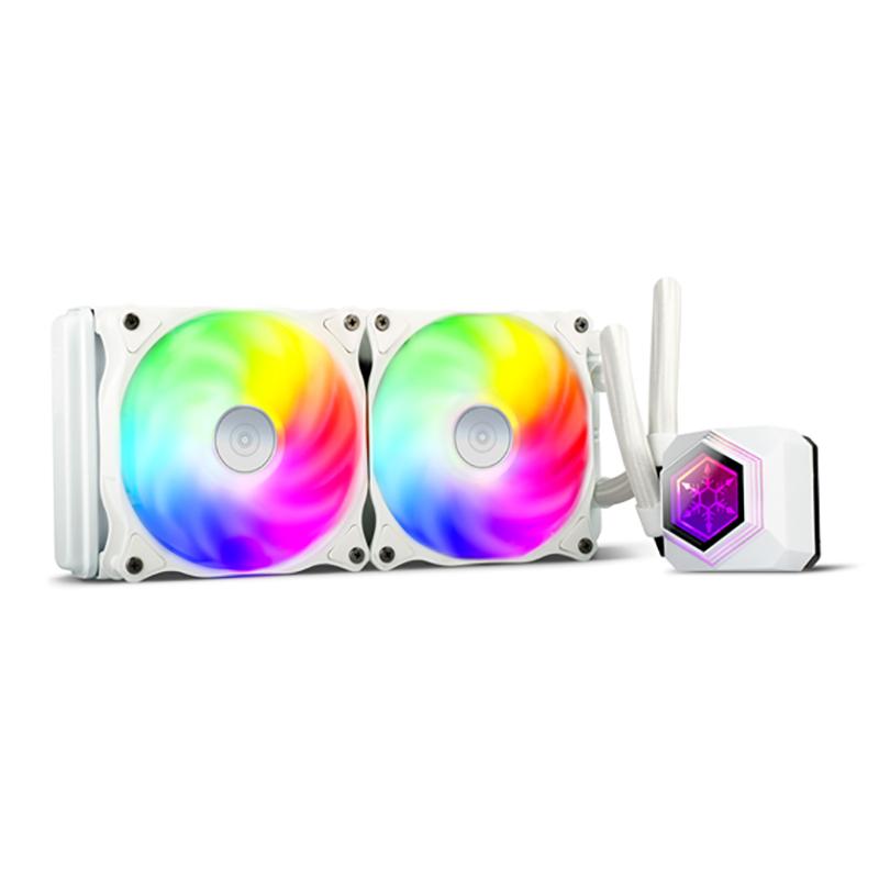 SilverStone PF240W ARGB AIO Liquid CPU Cooler - White