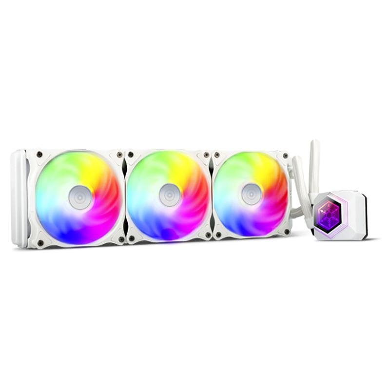 SilverStone PF360W ARGB AIO Liquid CPU Cooler - White