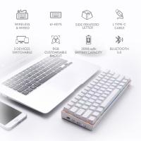 Redragon K530 Draconic 60% Compact RGB Wireless Mechanical Gaming Keyboard, White