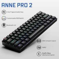 ANNE PRO 2 60% Bluetooth Mechanical Keyboard, Gateron Brown Switch, Black Case