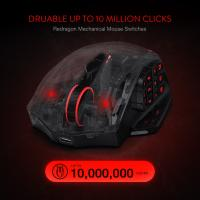 Redragon M913 Wireless Mouse, RGB MMO Gaming Mouse