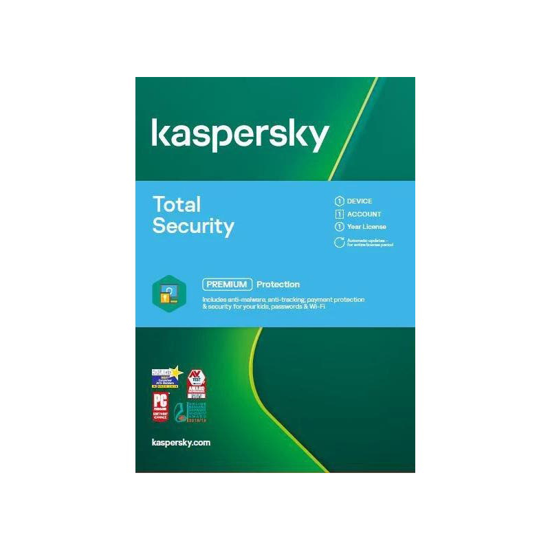 Kaspersky Total Security 1 Year 1 Device Retail Card
