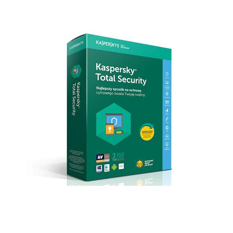 Kaspersky Total Security 1 Year 3 Device Retail Card