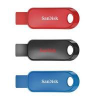 SanDisk 16GB Cruzer Snap CZ62 USB 2.0 Drive - 3 Pack