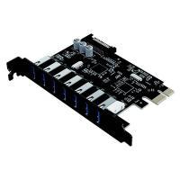 Cruxtec 7 Port USB 3.0 PCIe Expansion Card