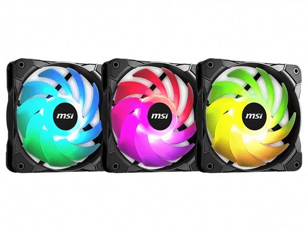 MSI MAG MAX F12A 120mm ARGB Fan - 3 Pack