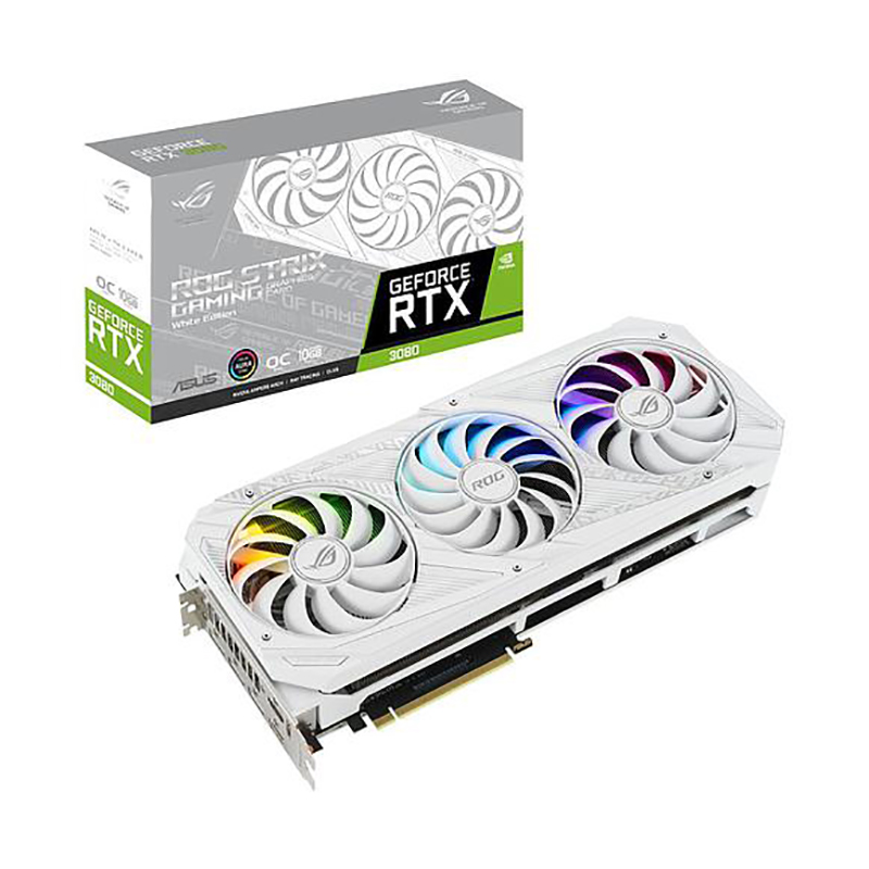 Asus ROG Strix GeForce RTX 3080 White 10G OC Graphics Card