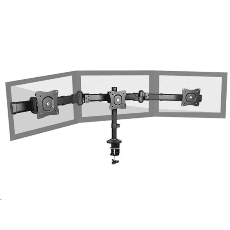 Brateck 13-27 inch Triple Monitor Arm Mounts with Desk Clamp