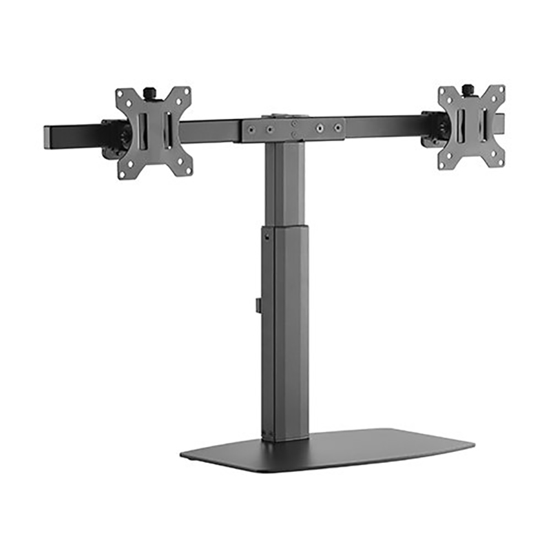 Brateck Dual Screen Pneumatic Vertical Lift Monitor Stand