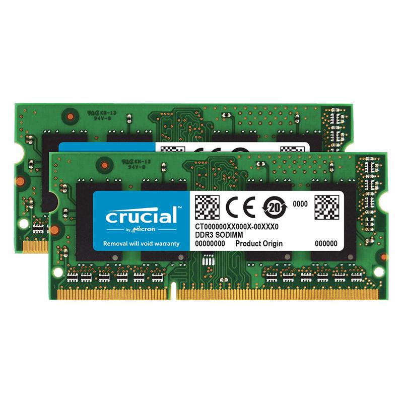 Crucial 16GB (2x8GB) CT2KIT102464BF160B 1600MHz DDR3 SODIMM RAM