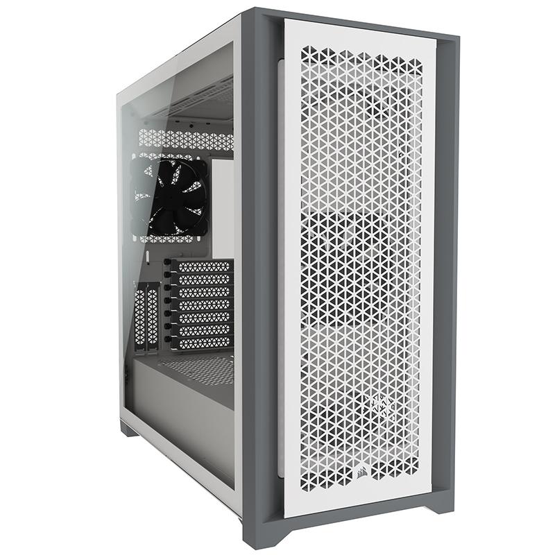 Corsair 5000D Airflow TG Mid Tower E-ATX Case - White
